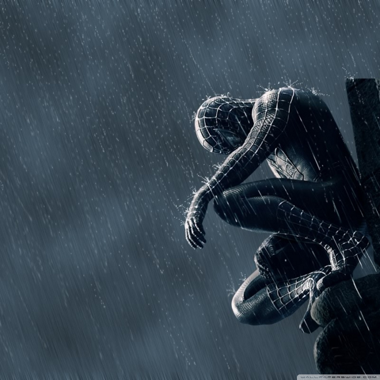 spider man in the rain wallpapers