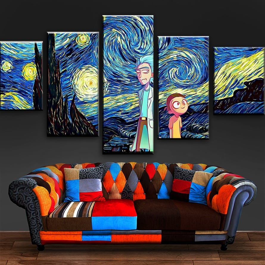 iTibwxm canvas paintings rick and morty wallpapers