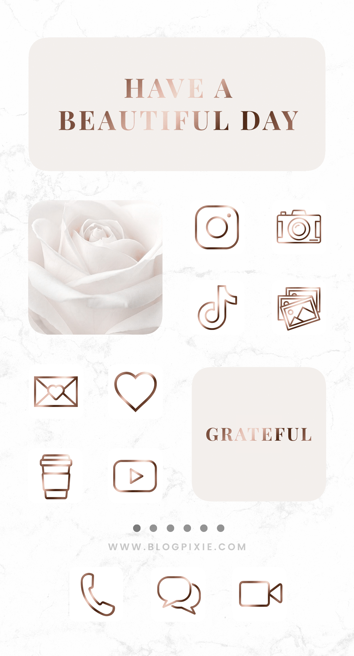 App Icons IOS 14 Rose Gold Aesthetic