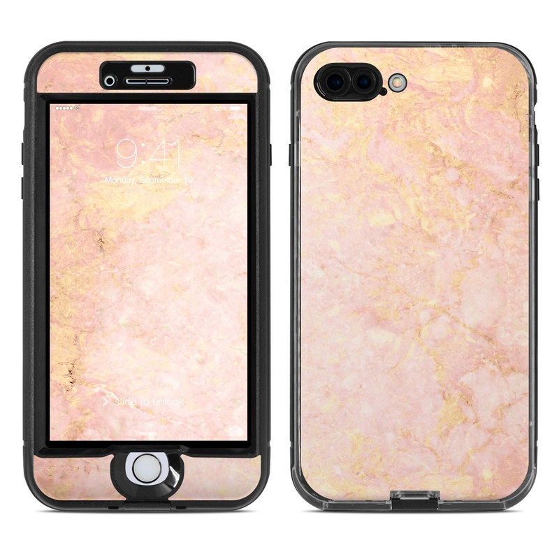 lifeproof iphone 7 plus nuud case skin rose gold marble