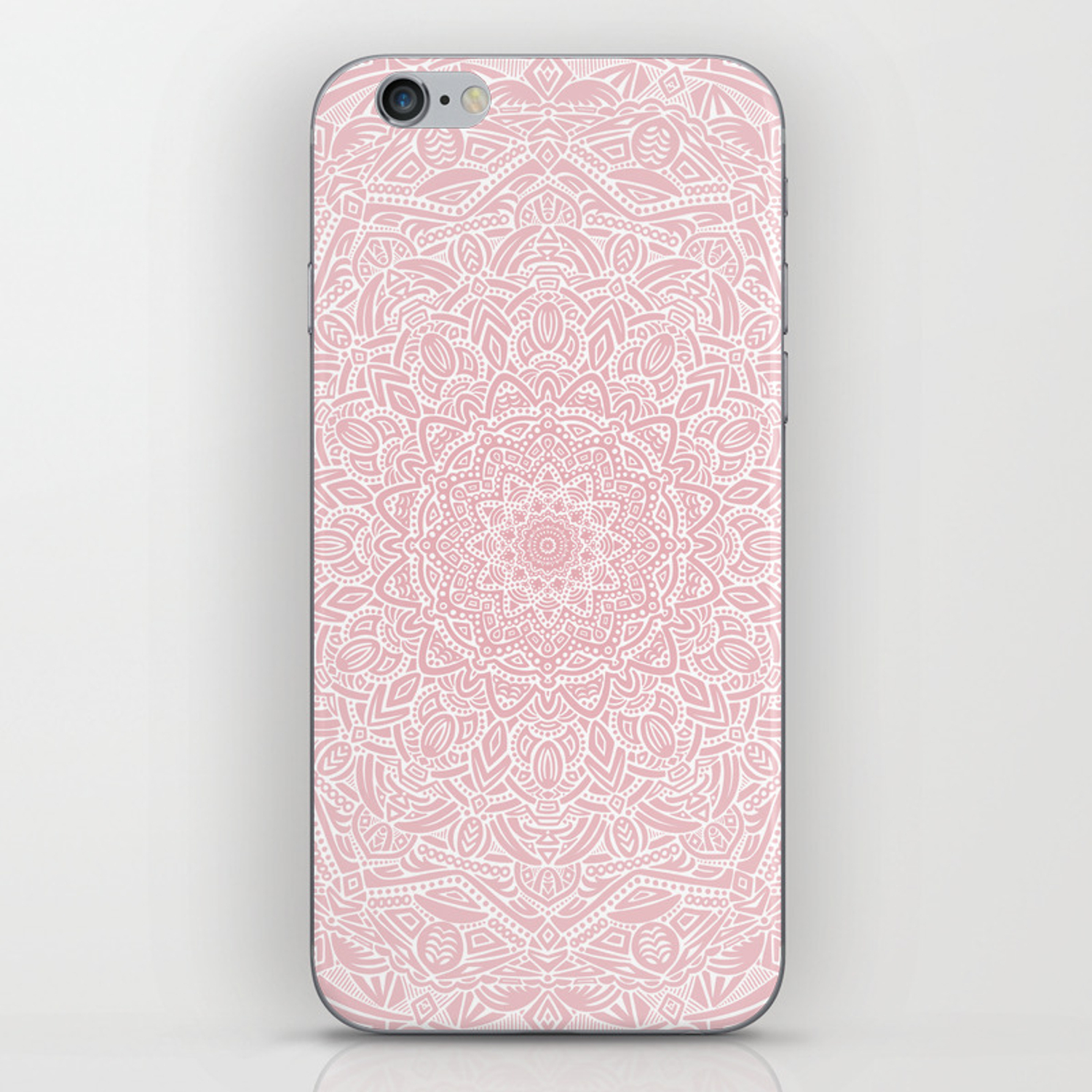 most detailed mandala rose gold pink color intricate detail ethnic mandalas zentangle maze pattern phone skin