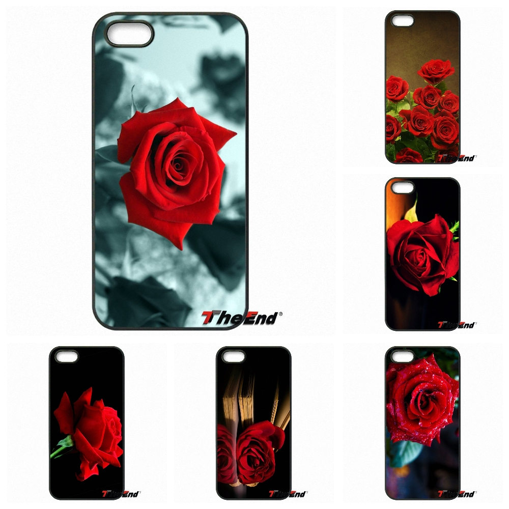 oohowh lovely red rose wallpaper art print phone case