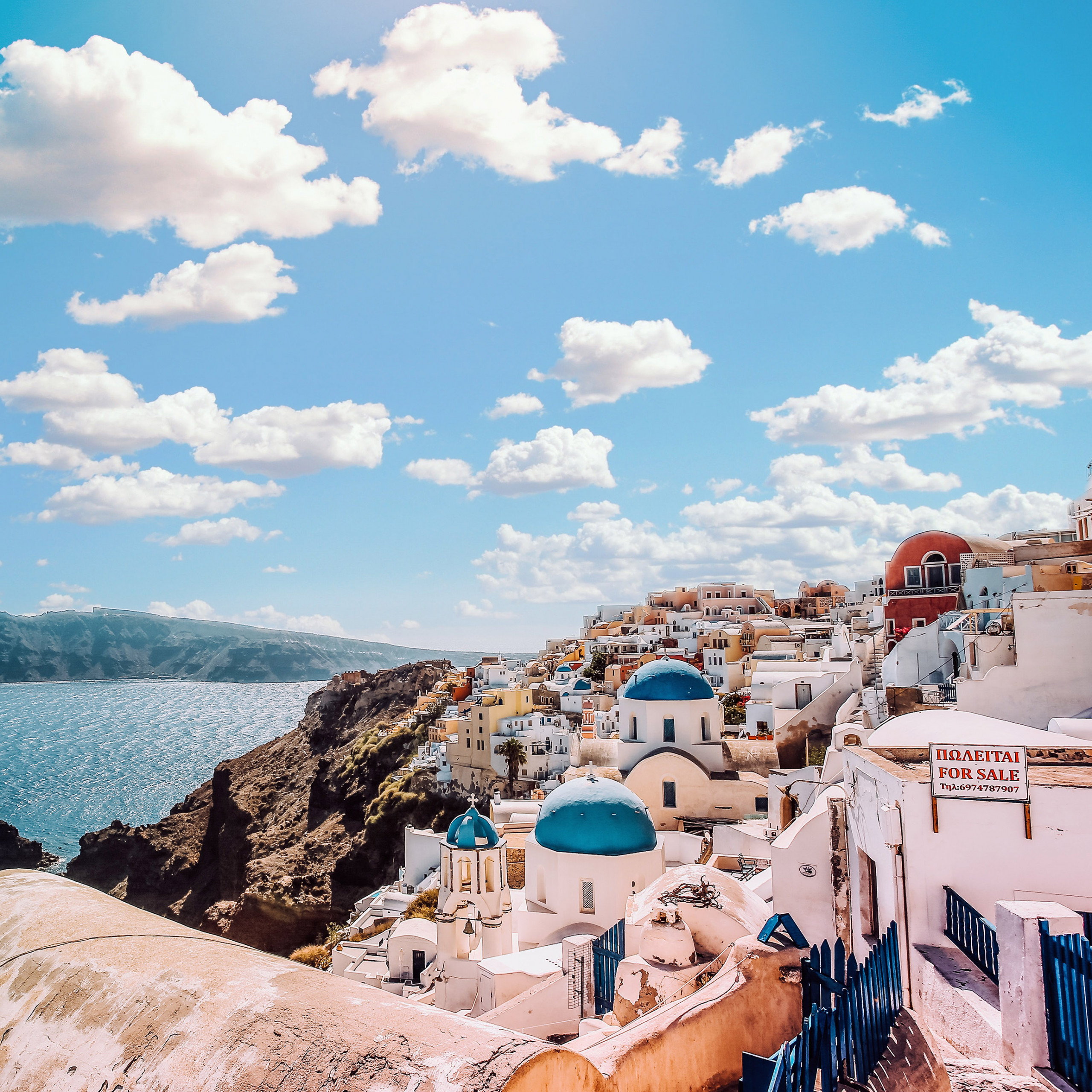 papers ob79 sky sunny summer greece city nature 40 wallpaper