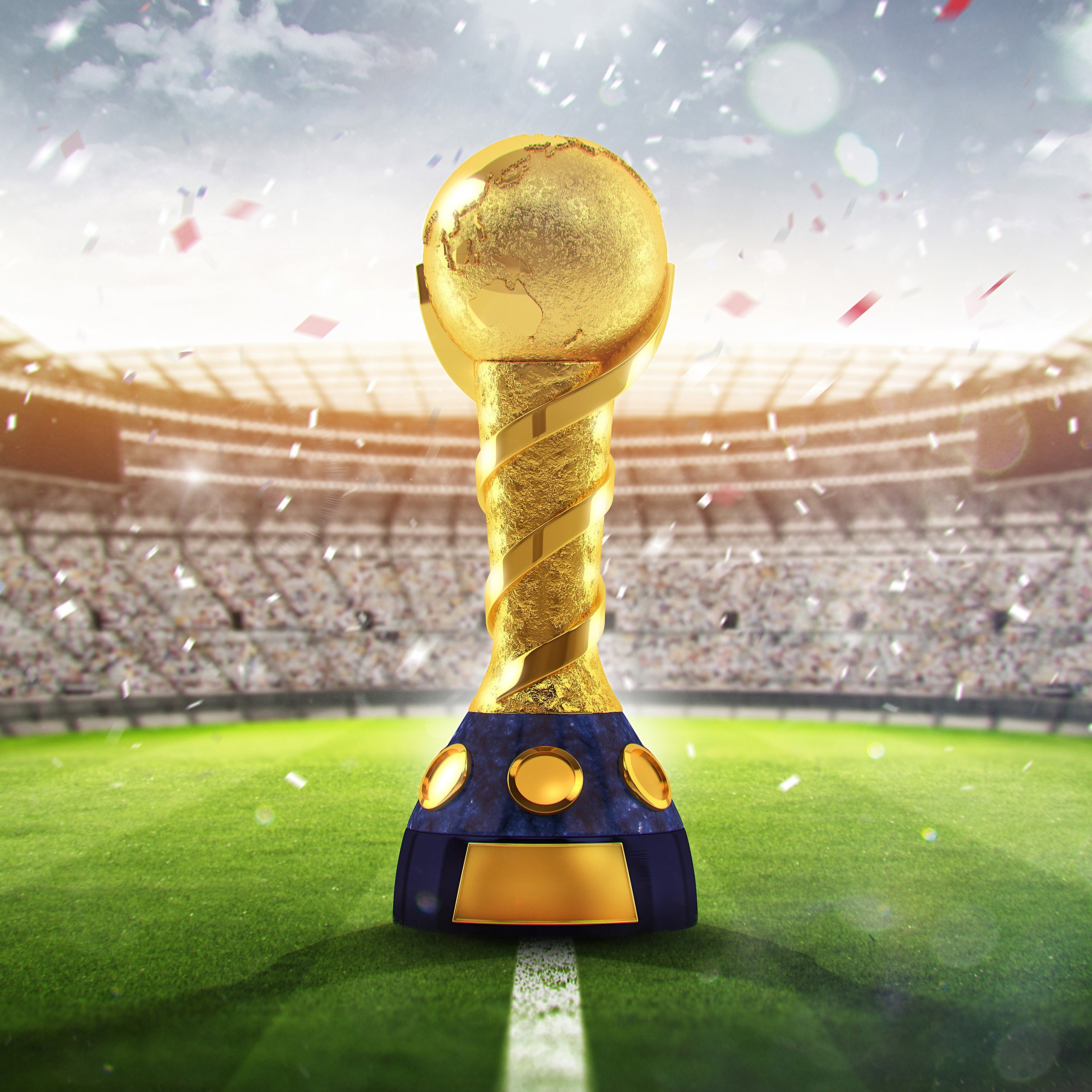 2018 fifa world cup russia golden trophy 4k 8k wallpapers