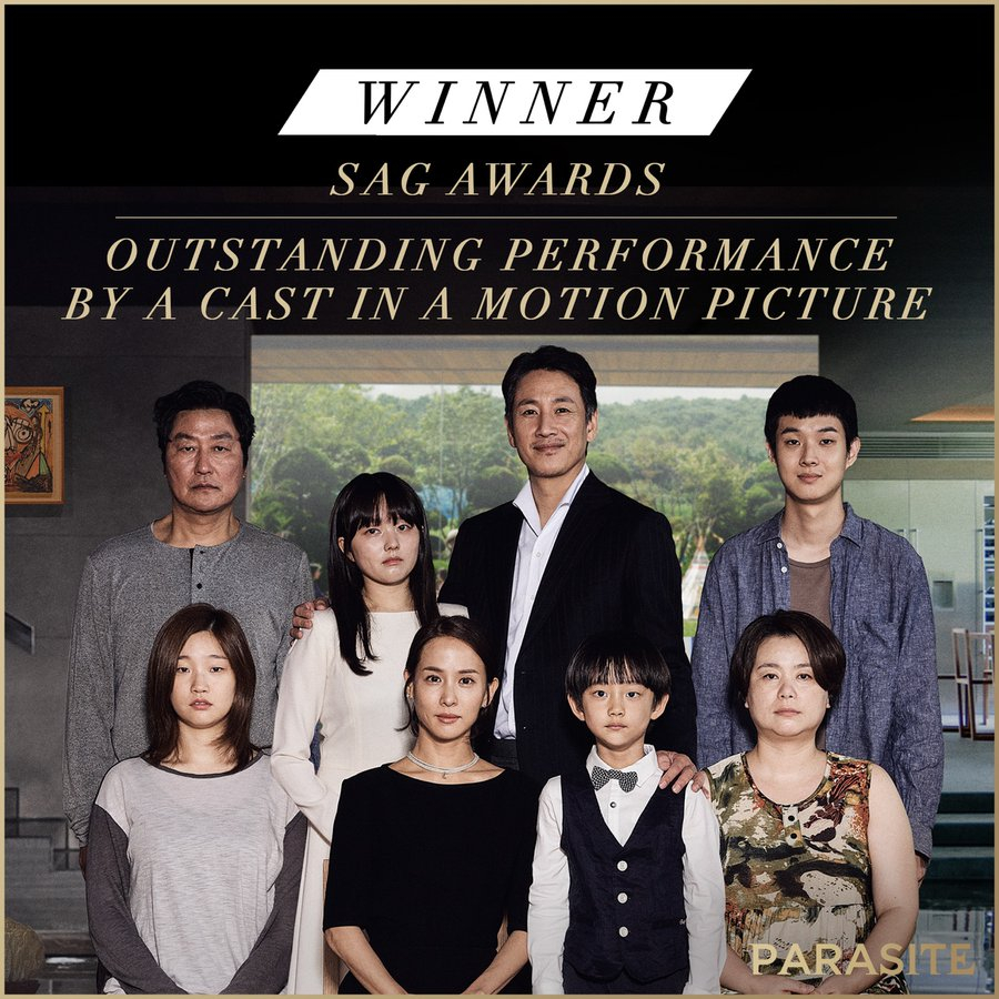 parasite claims top prize 26th screen actors guild awards