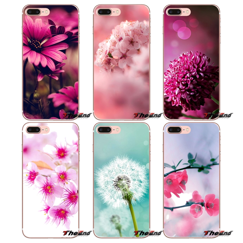 Pink Summer Flowers Wallpaper Phone Case For iPhone X 4 4S 5 5S 5C SE 6