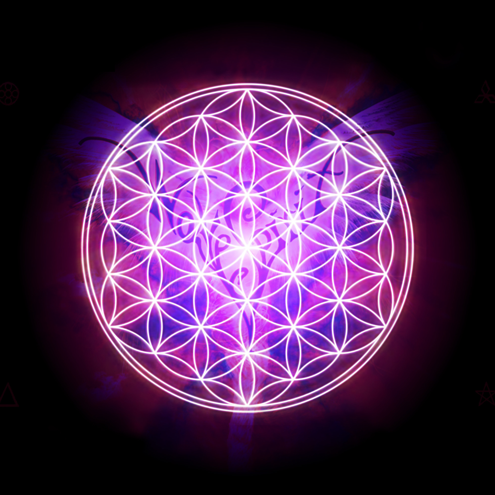 flower of life wallpapers 2000x2000 for retina