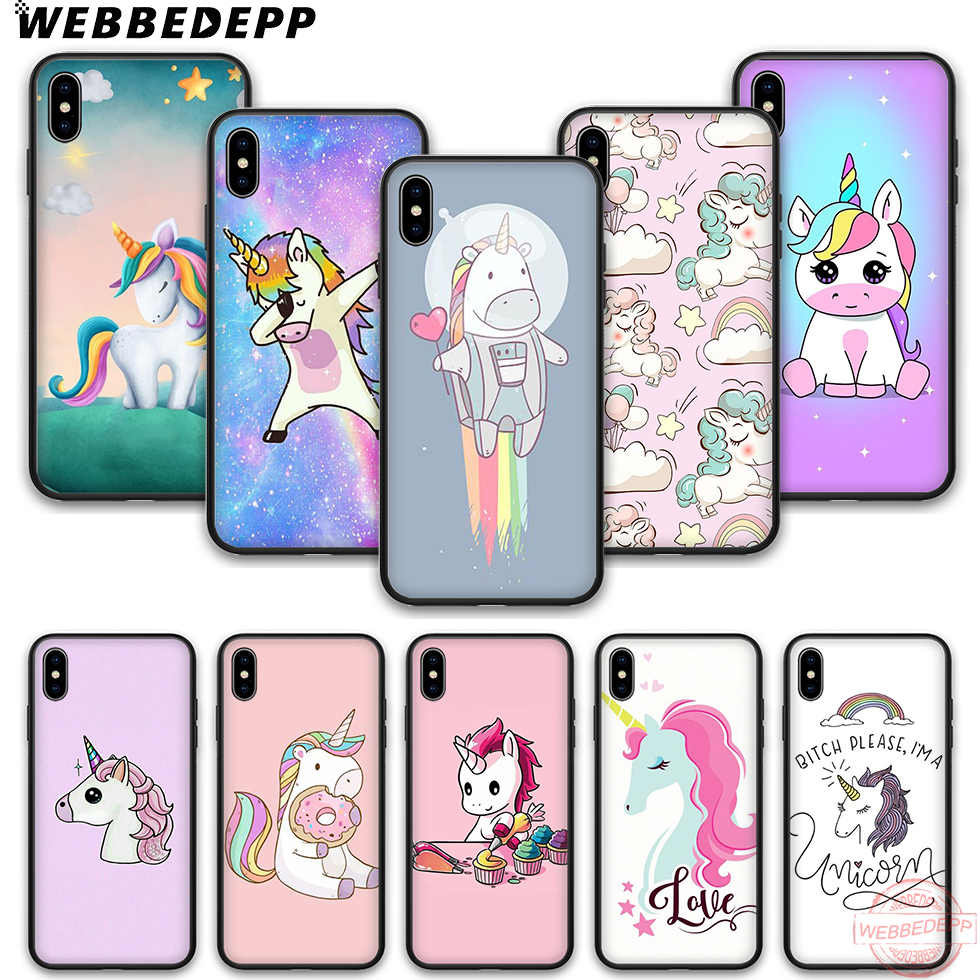 ibiRiJh webbedepp unicorn wallpaper soft silicone phone case unicorn