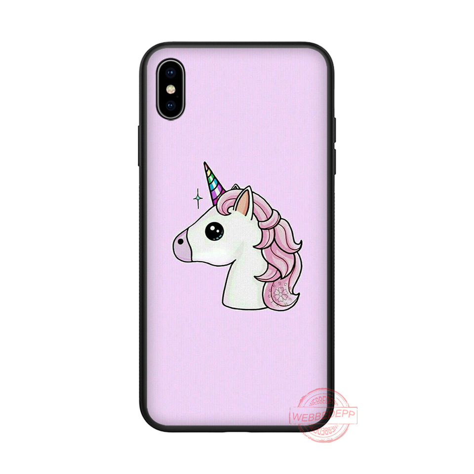 WEBBEDEPP Unicorn wallpaper soft silicone phone case for iPhone 5 6 7 8 Plus X XS 960x960