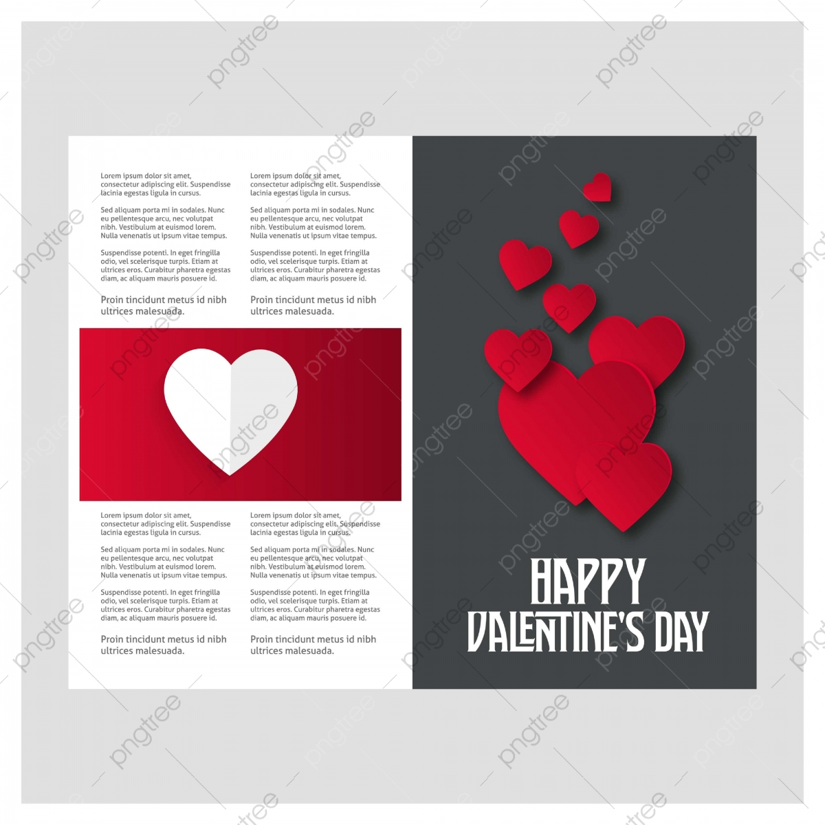 pngtree valentines day background with icon set pattern vector illustr png image