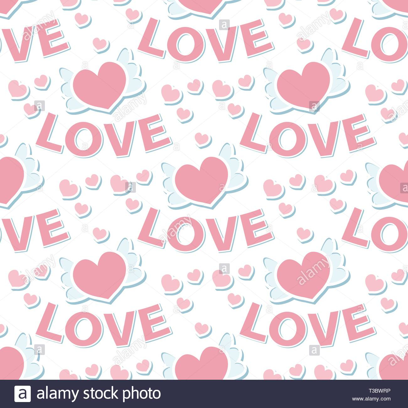 love seamless pattern valentines day endless texture background vector illustration T3BWRP