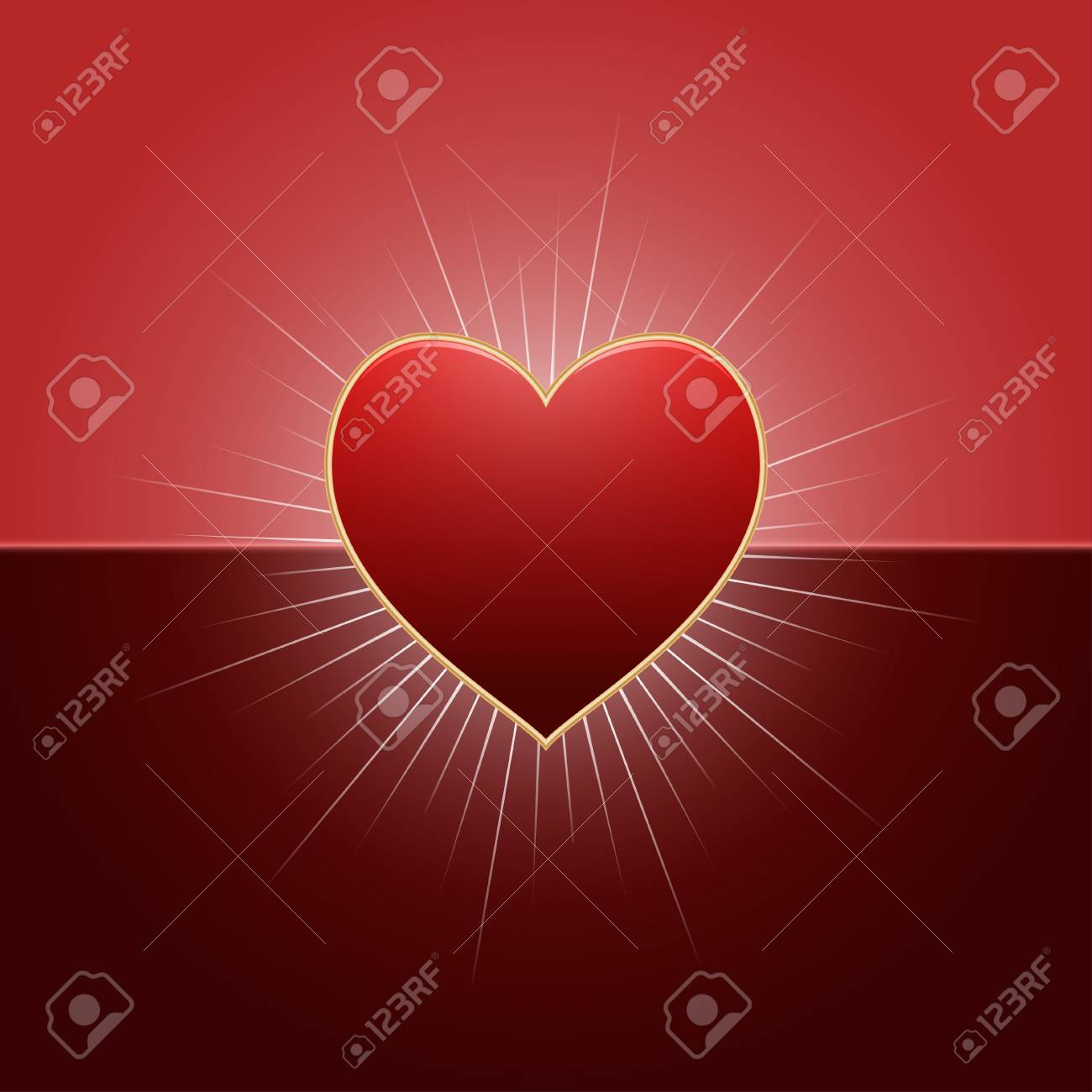 photo stock vector valentines day background with red heart and rays of lights happy valentine s day template vector il