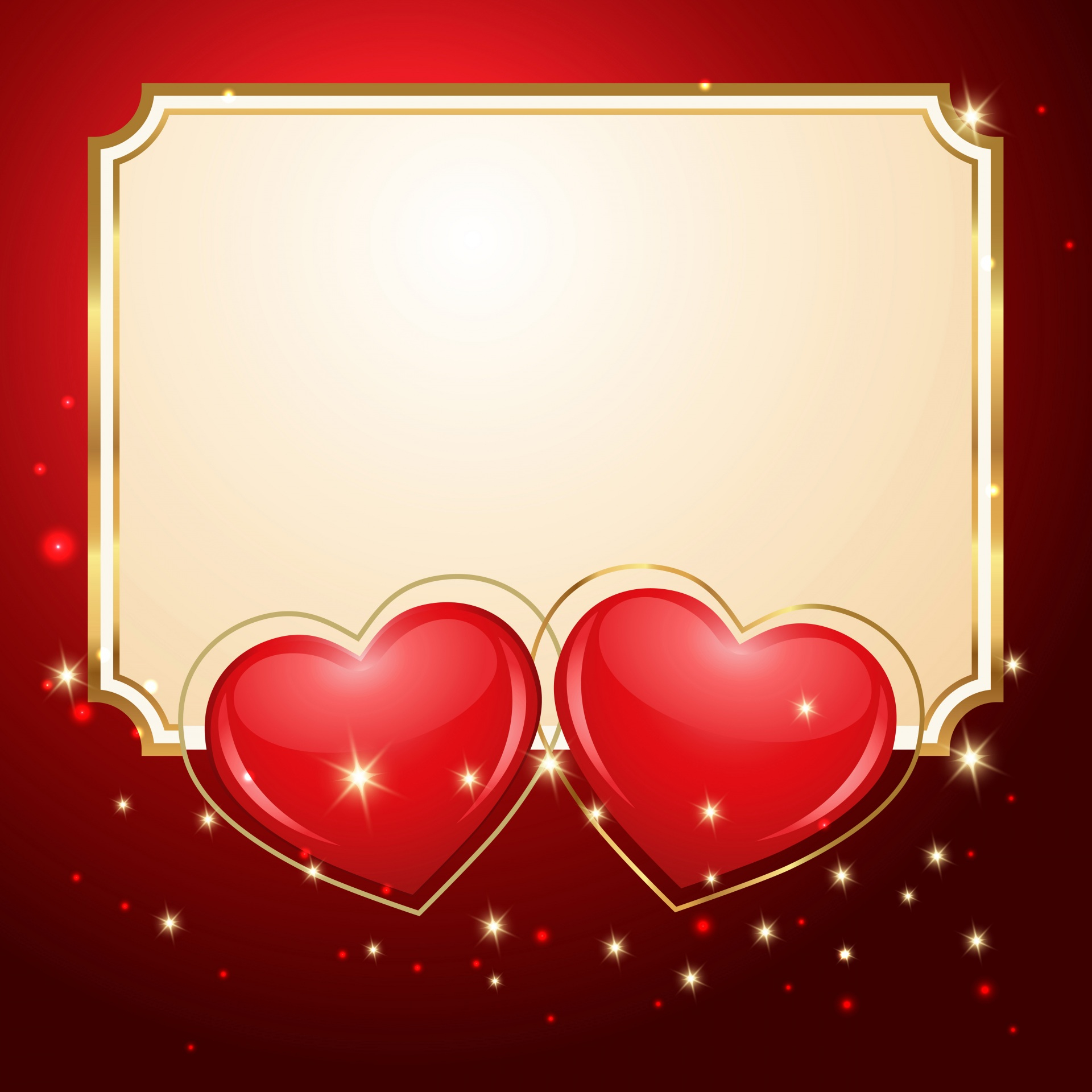 Valentine s Day Template greeting card Red 1920x1920