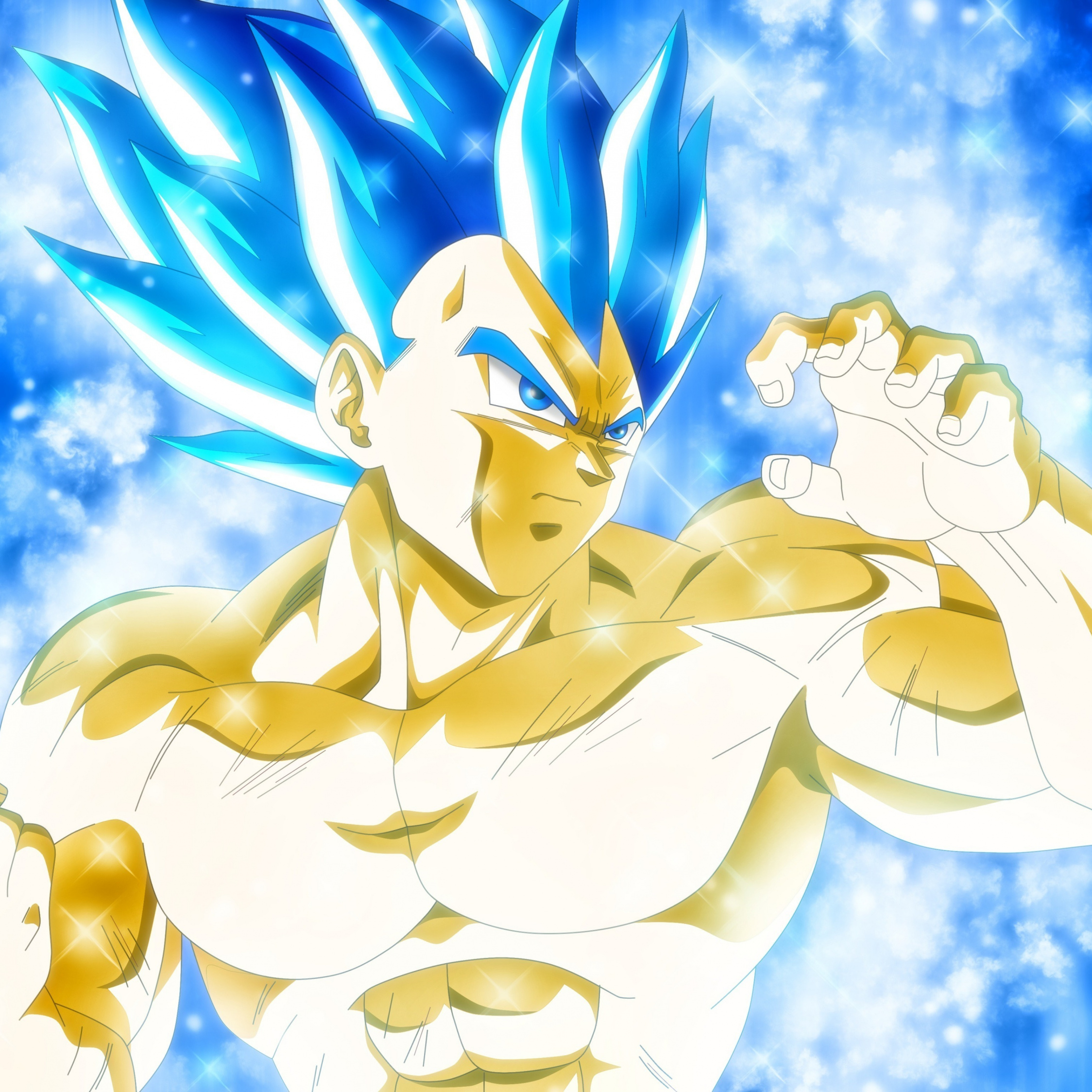 ve a ssj blue evolution wallpaper 4k