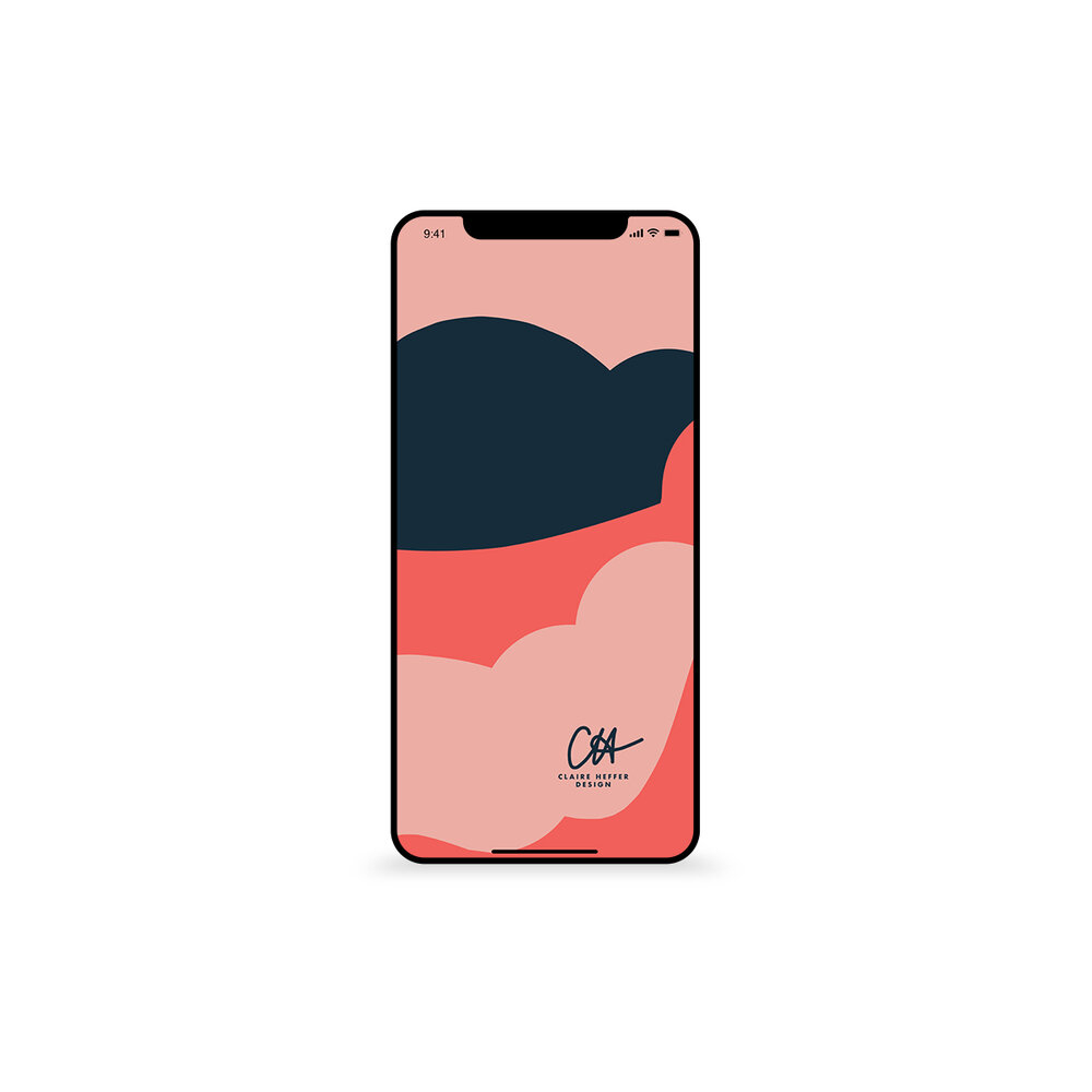 BLUE PINK ABSTRACTiphone mockup SINGLEIPHONESQUARE