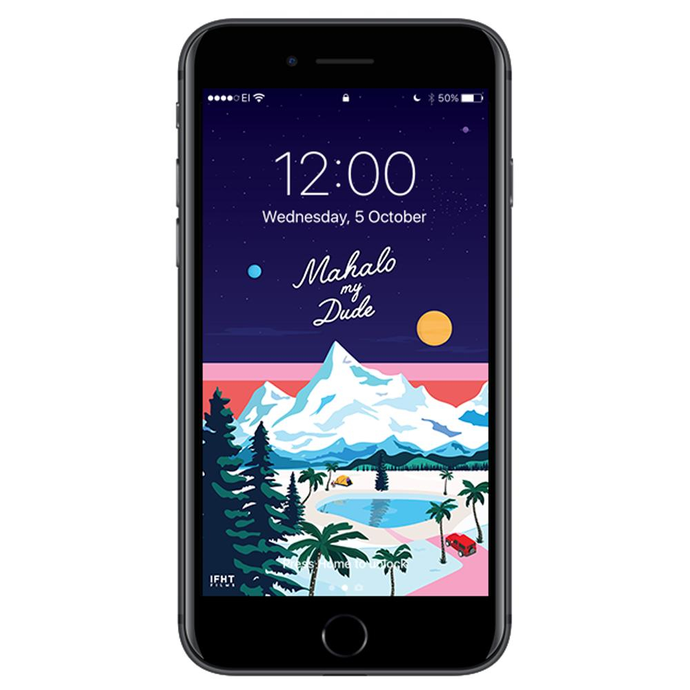 mahalo my dude scenic iphone wallpaper mockup 1800x