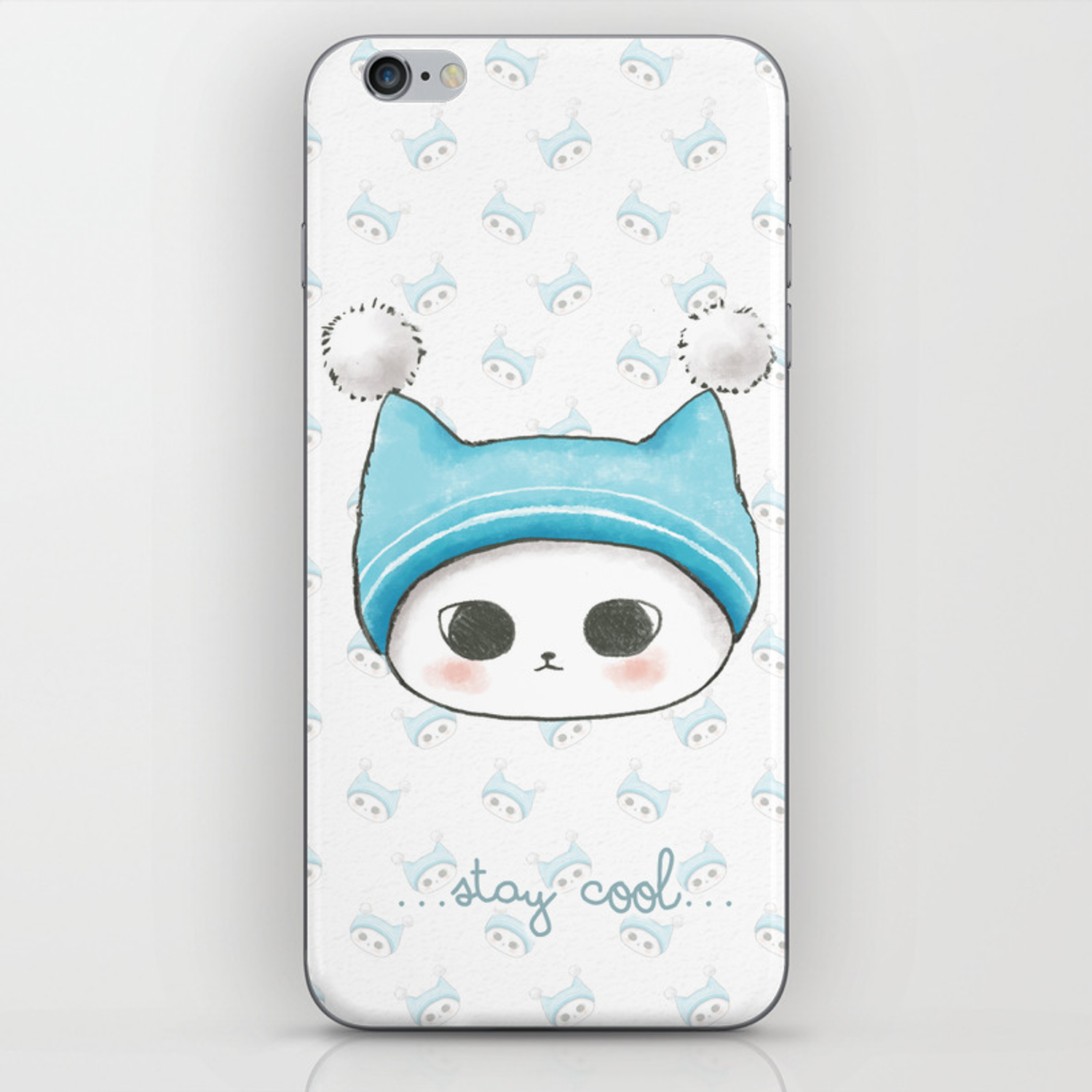 stay cool catbackground wallpaper phone skin