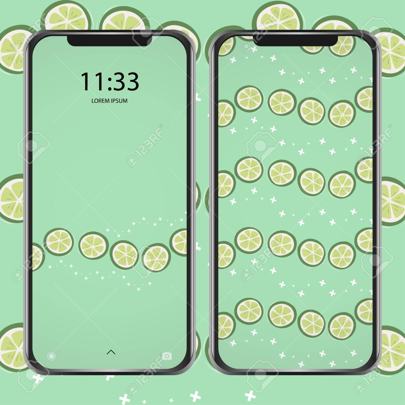 photo stock vector cool collection of mobile phone wallpaper with lemon fruit for printing on textiles pattern products