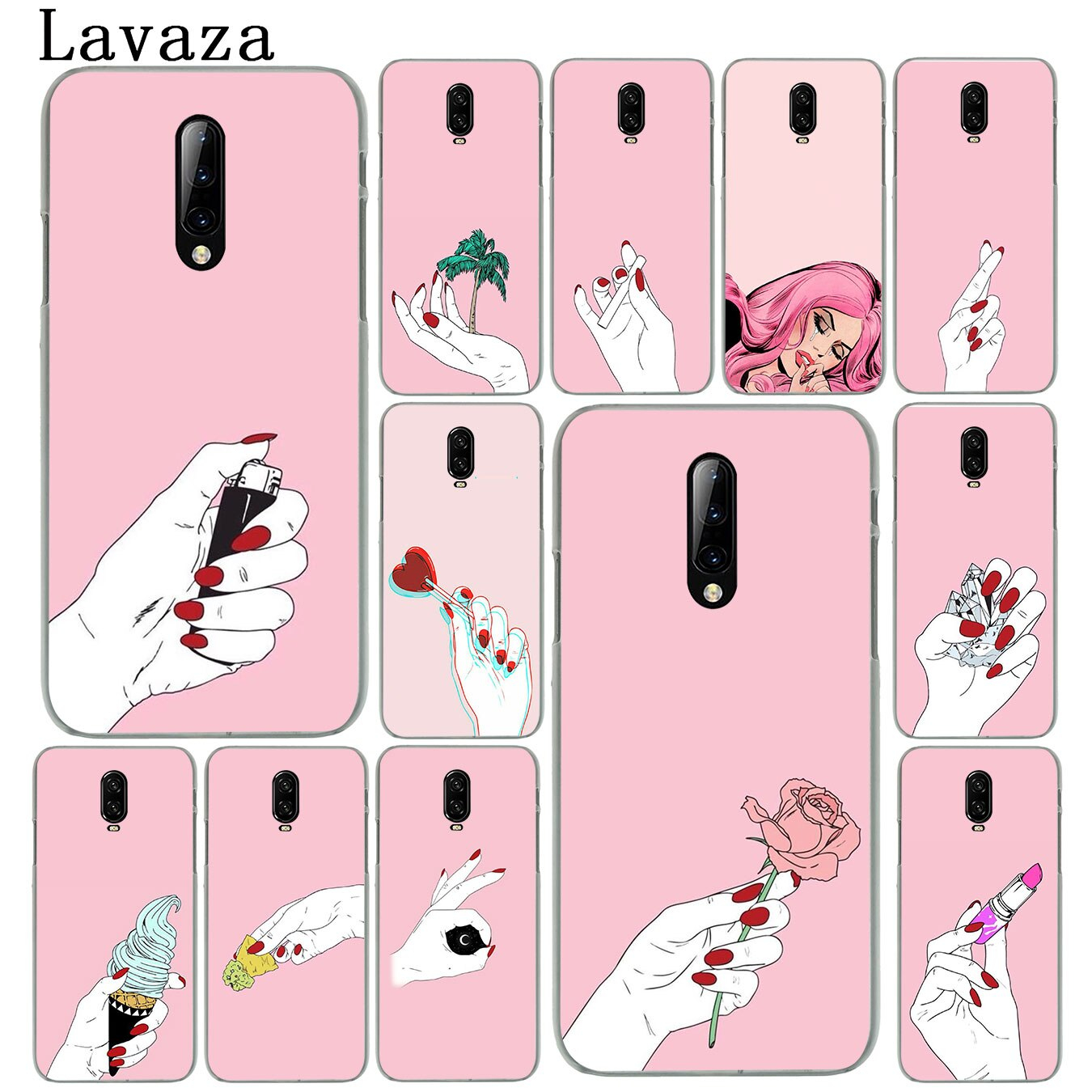 woman girl hand wallpaper Hard Plastic Cell Phone Case for eplus 7T 7 Pro 6 6t