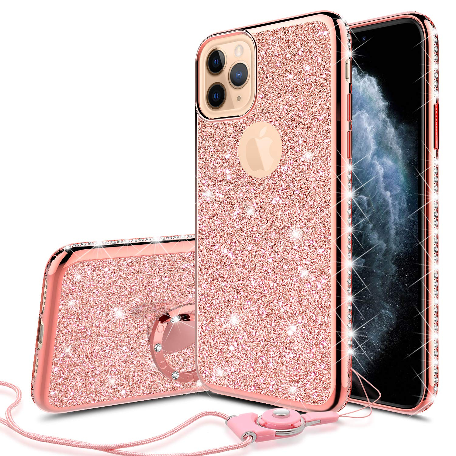 ce40a5 iphone rose gold glitter apple wallpaper
