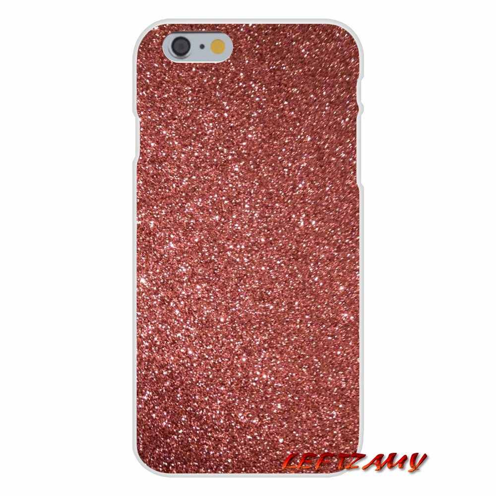 Rose gold glitter sparkles wallpaper Casos de Silicone Para O iPhone Da Apple X XR XS q50