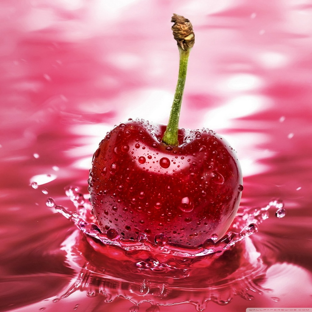 Cherry Water 4K HD Desktop Wallpaper for 4K Ultra HD TV