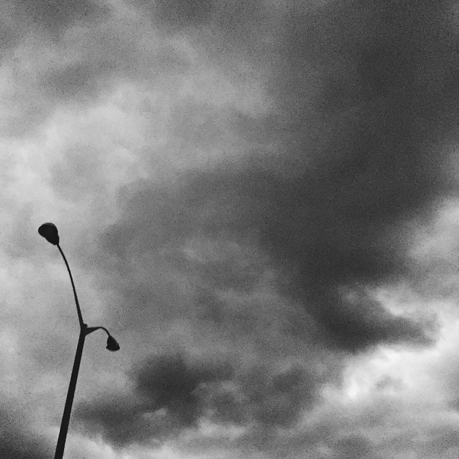 gloomy sky black and white rainy