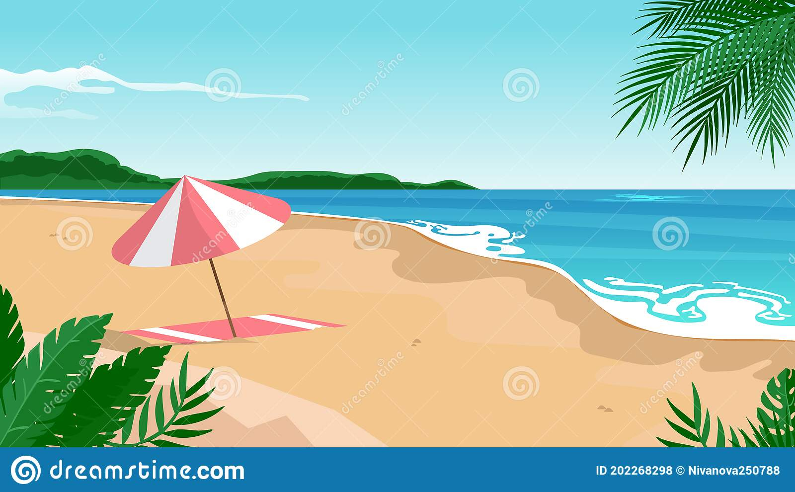 summer landscape background zoom vector illustration