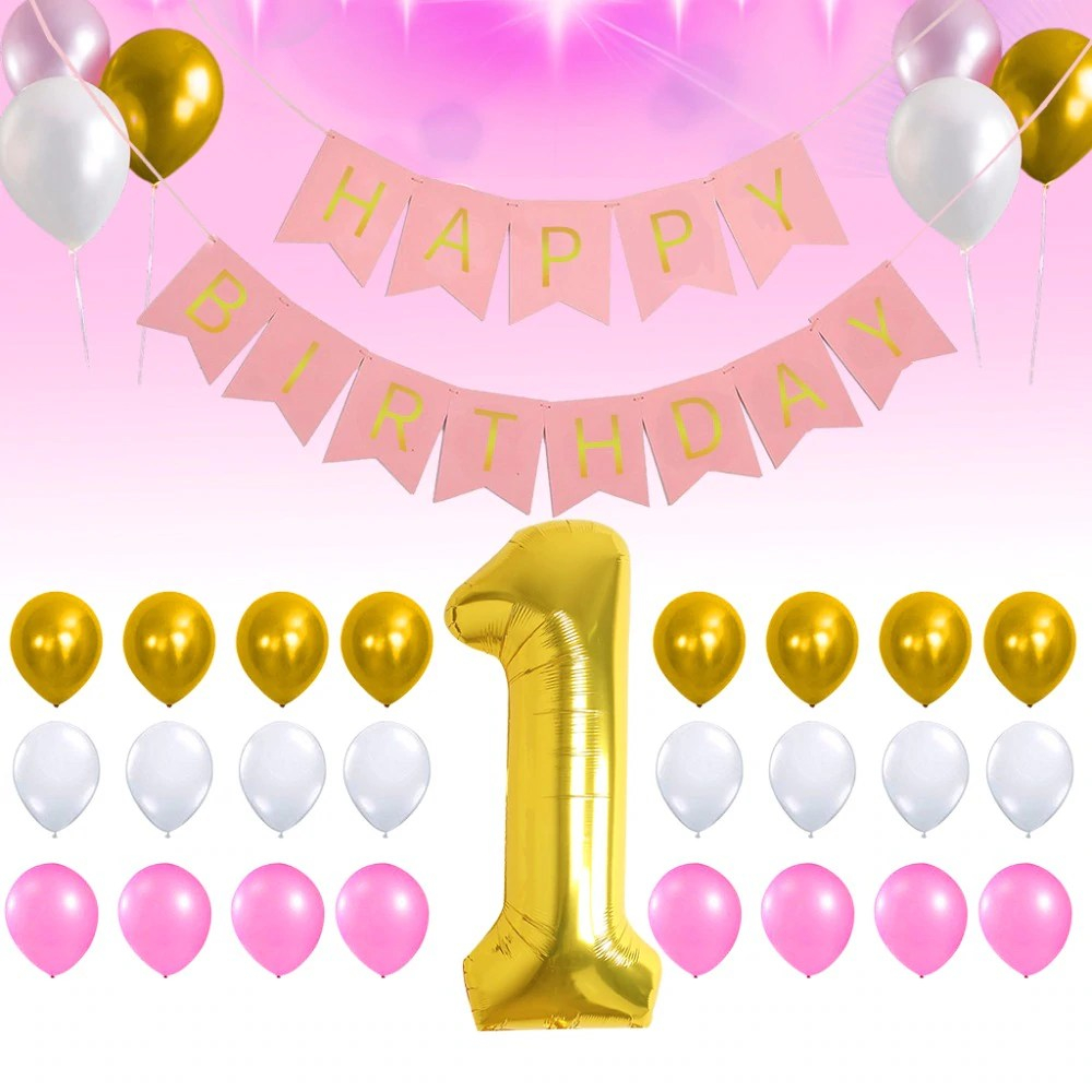 2d394d happy birthday pink balloons background