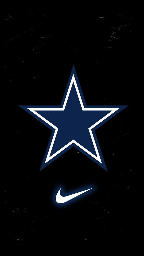 Dallas Cowboys Screensaver for Mobile Phone with Logo in Dark Background HD Wallpapers Wallpapers Download