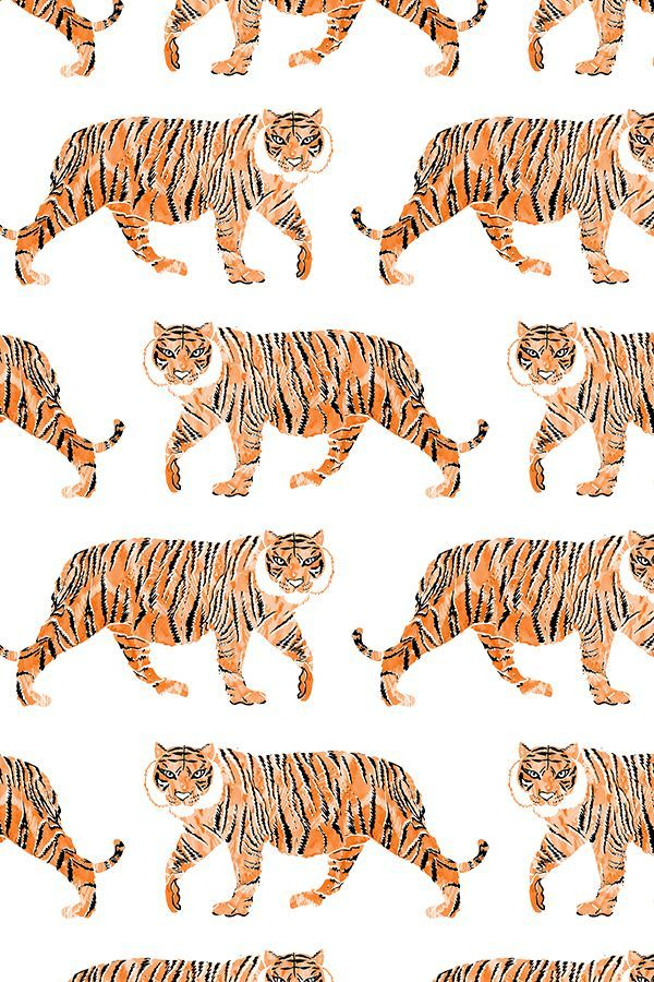 Fabric by the Yard Watercolor Tiger