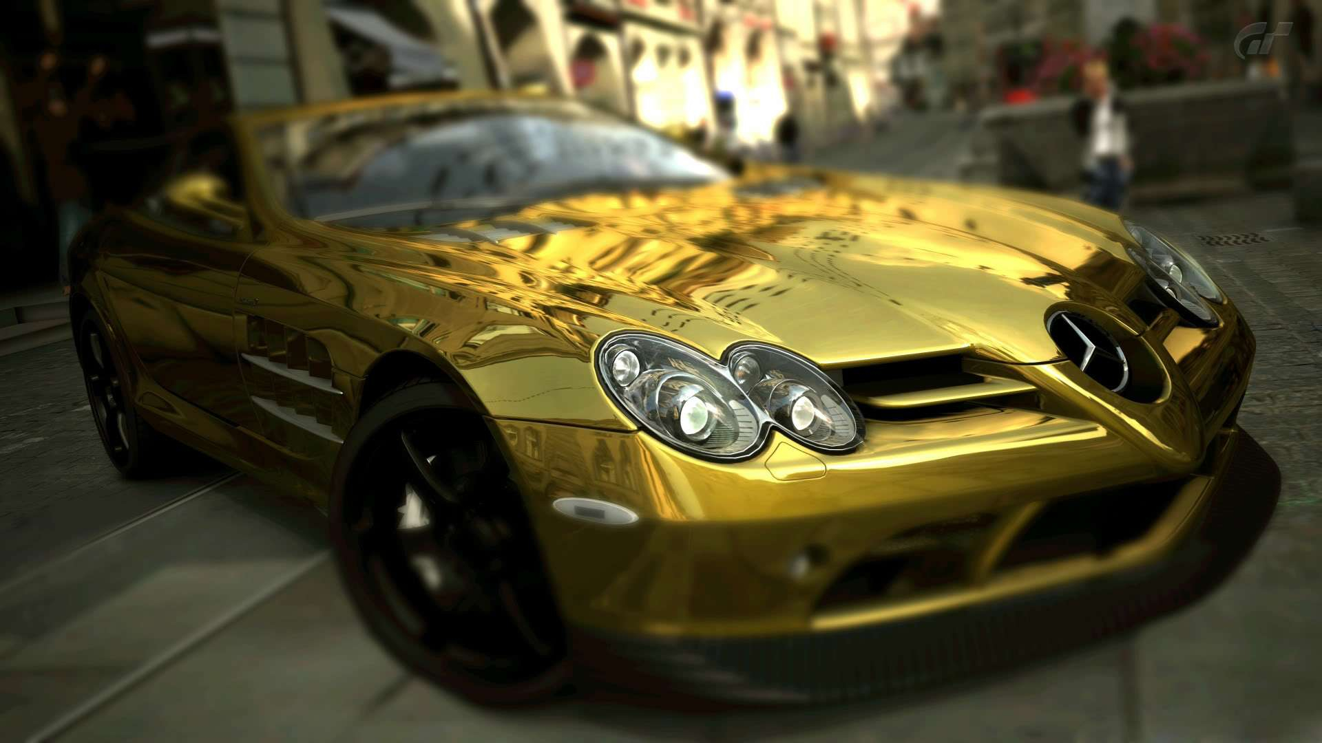 123 cool gold cars wallpapers pc mercedes benz slr