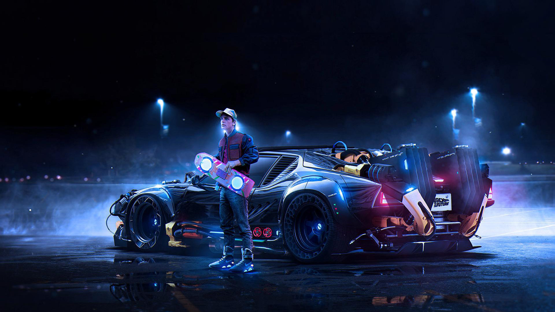 back to the future delorean marty mcfly wallpaper