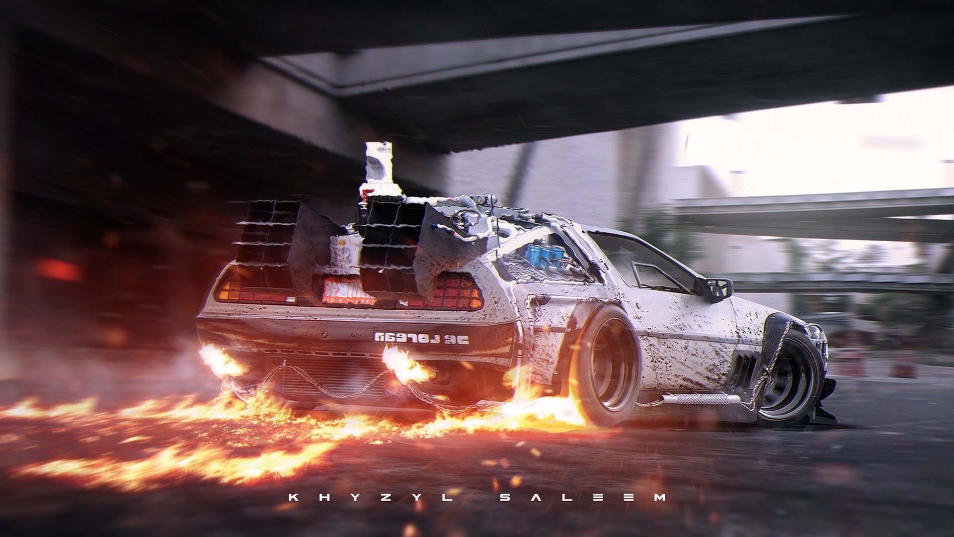 back to the future delorean supercars time travel khyzyl saleem