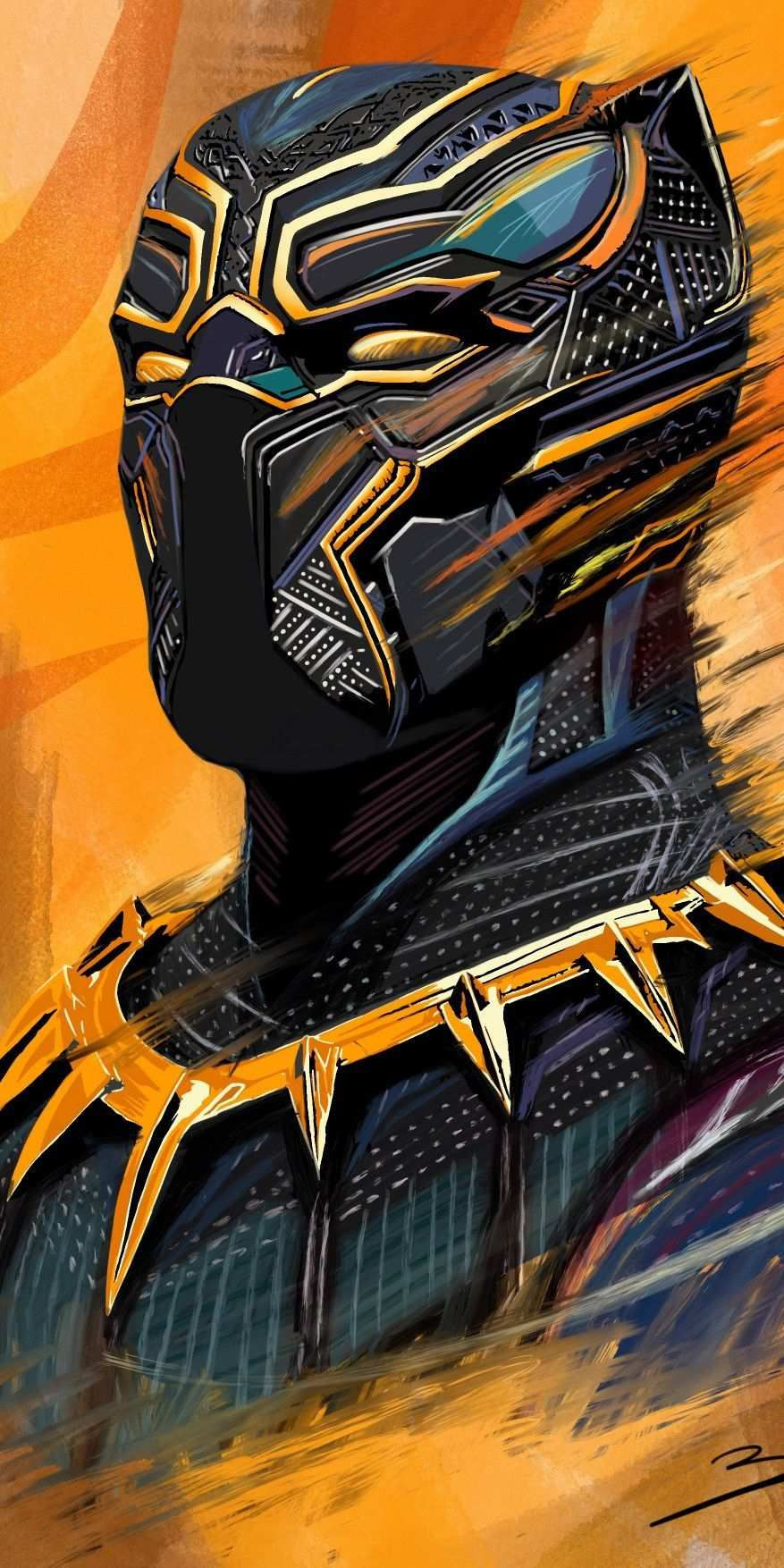Black Panther Art HD iPhone Wallpaper iPhone Wallpapers