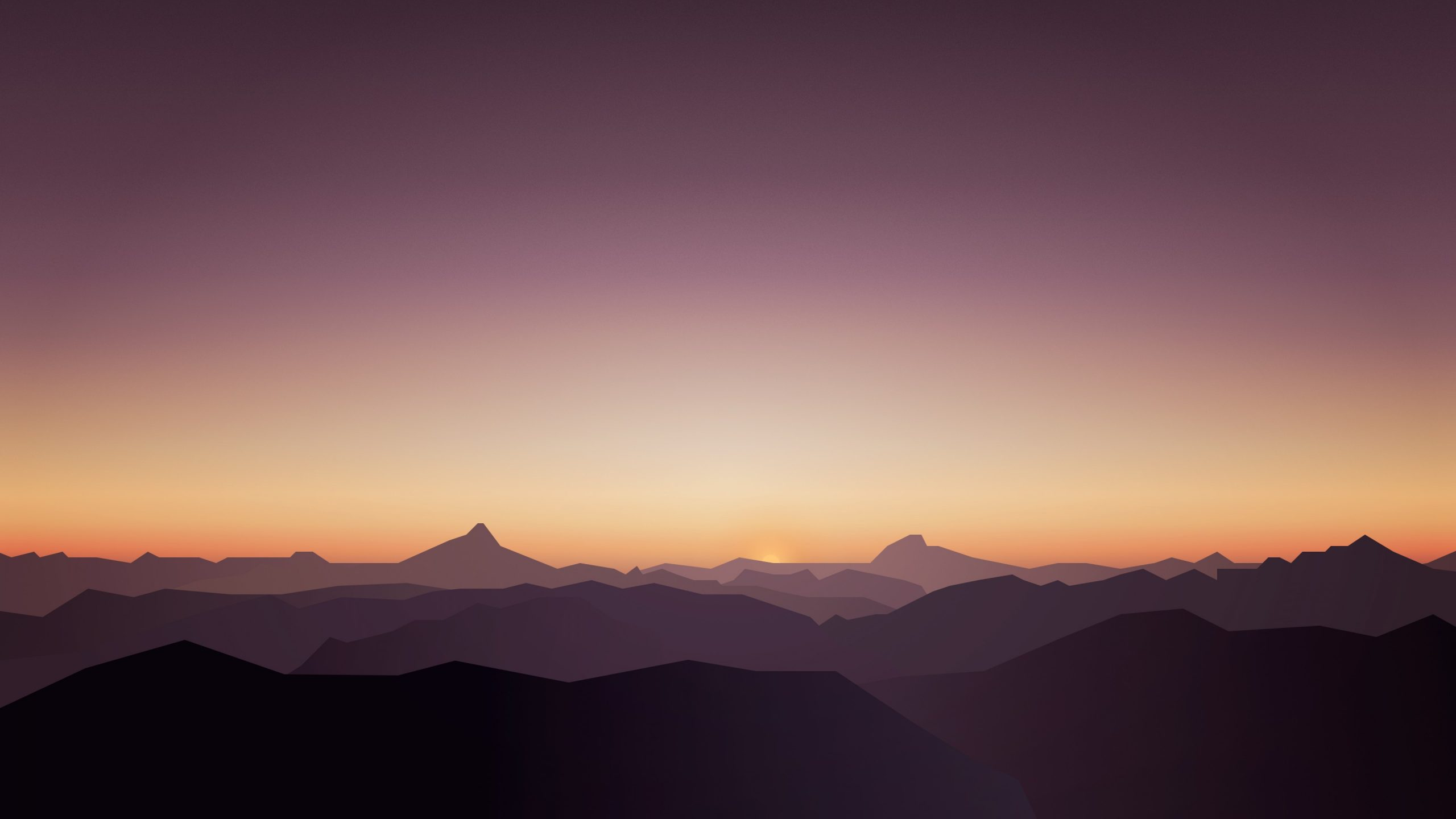 calm sunset mountains 5k wallpapers