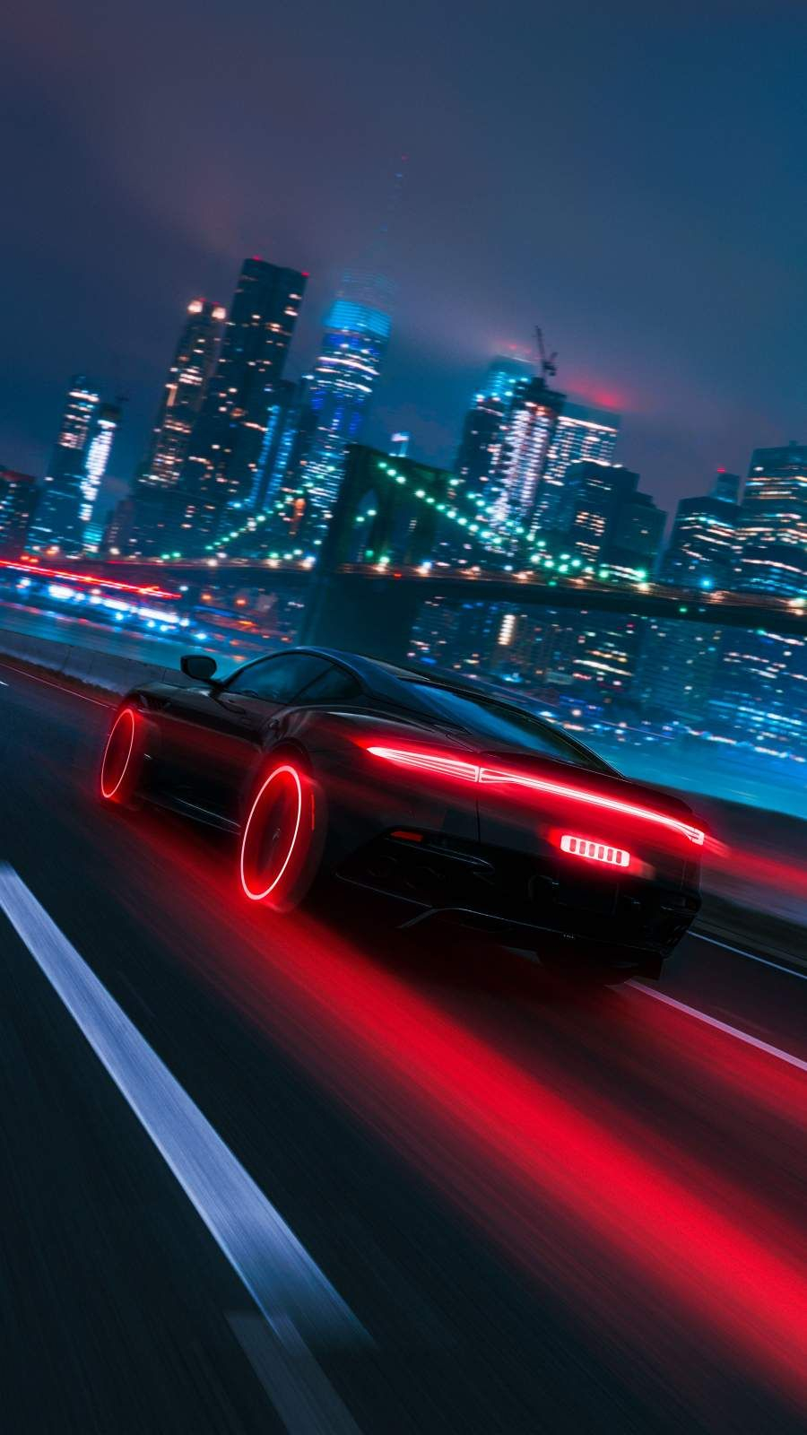 Neon City Fast Car iPhone Wallpaper iPhone Wallpapers