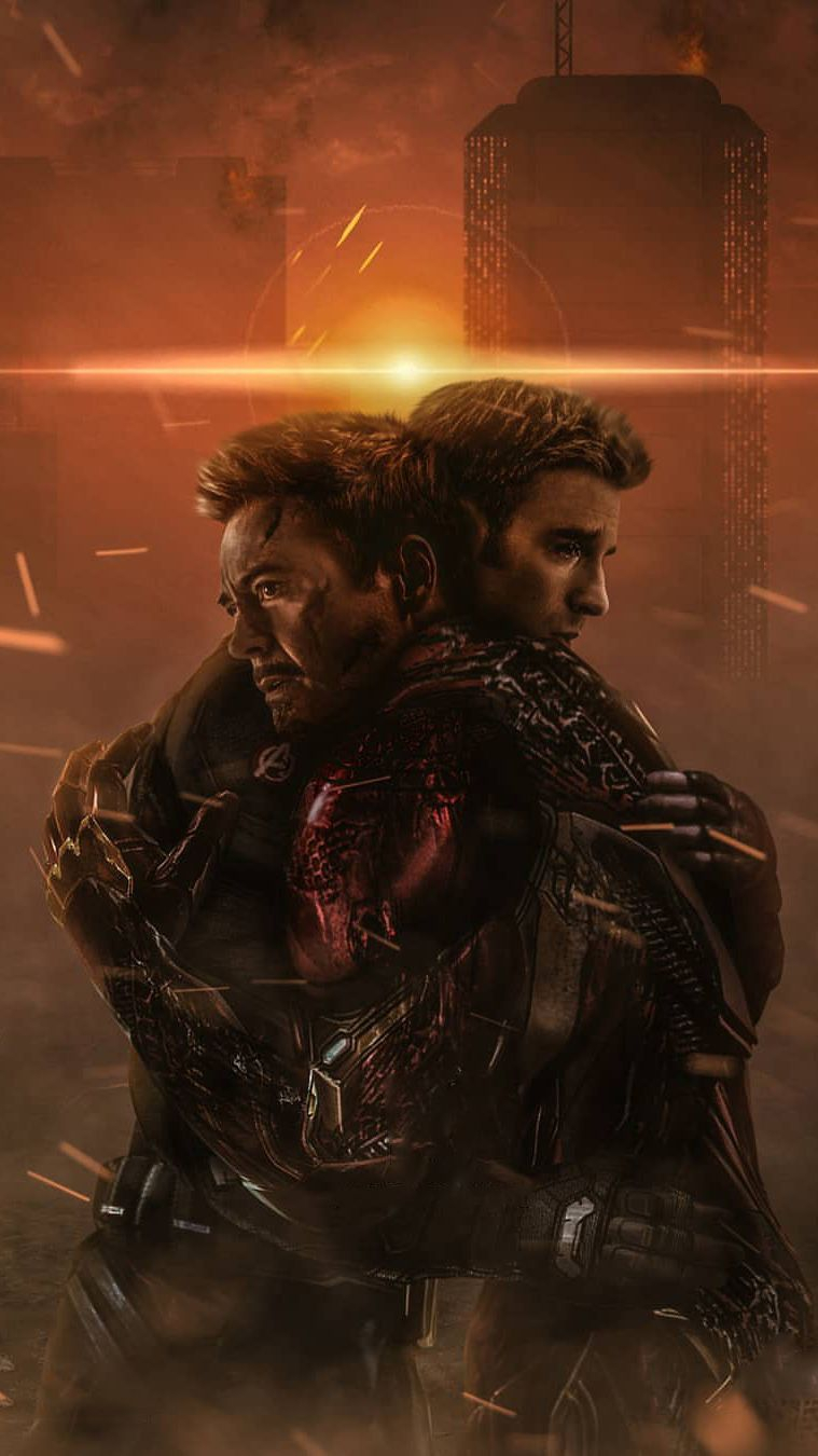 Tony Stark and Captain America Goodbye iPhone Wallpaper iPhone Wallpapers