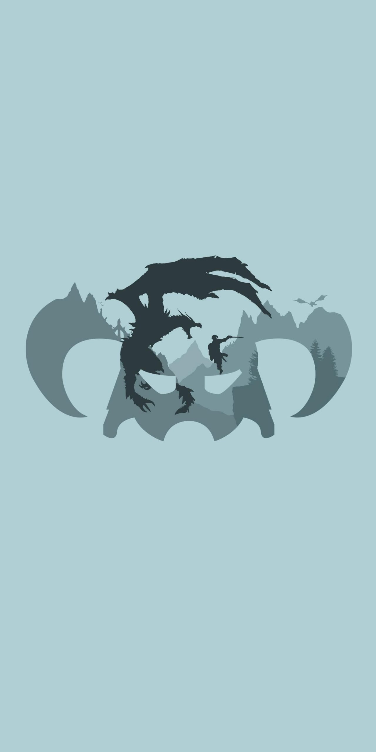 I made this Skyrim wallpaper for my S8 thought you guys might want it as well 1440x2880