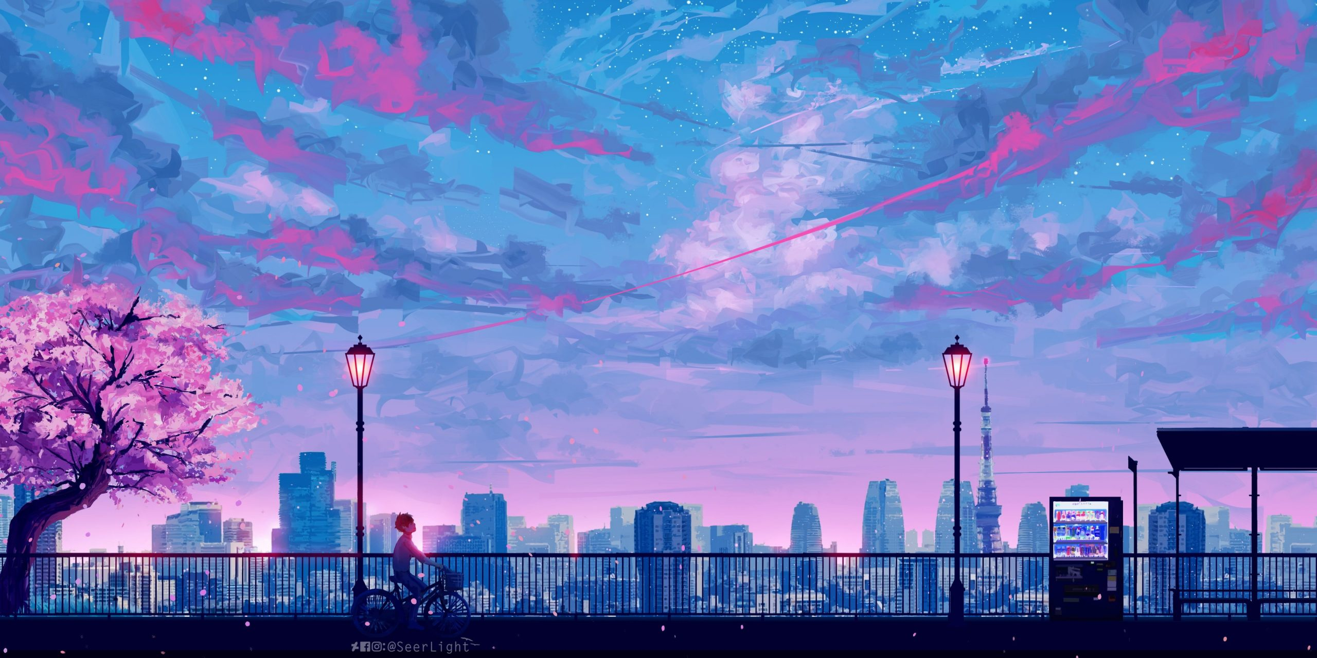 HD wallpaper silhouette of steel ridge wallpaper blue and pink sky painting
