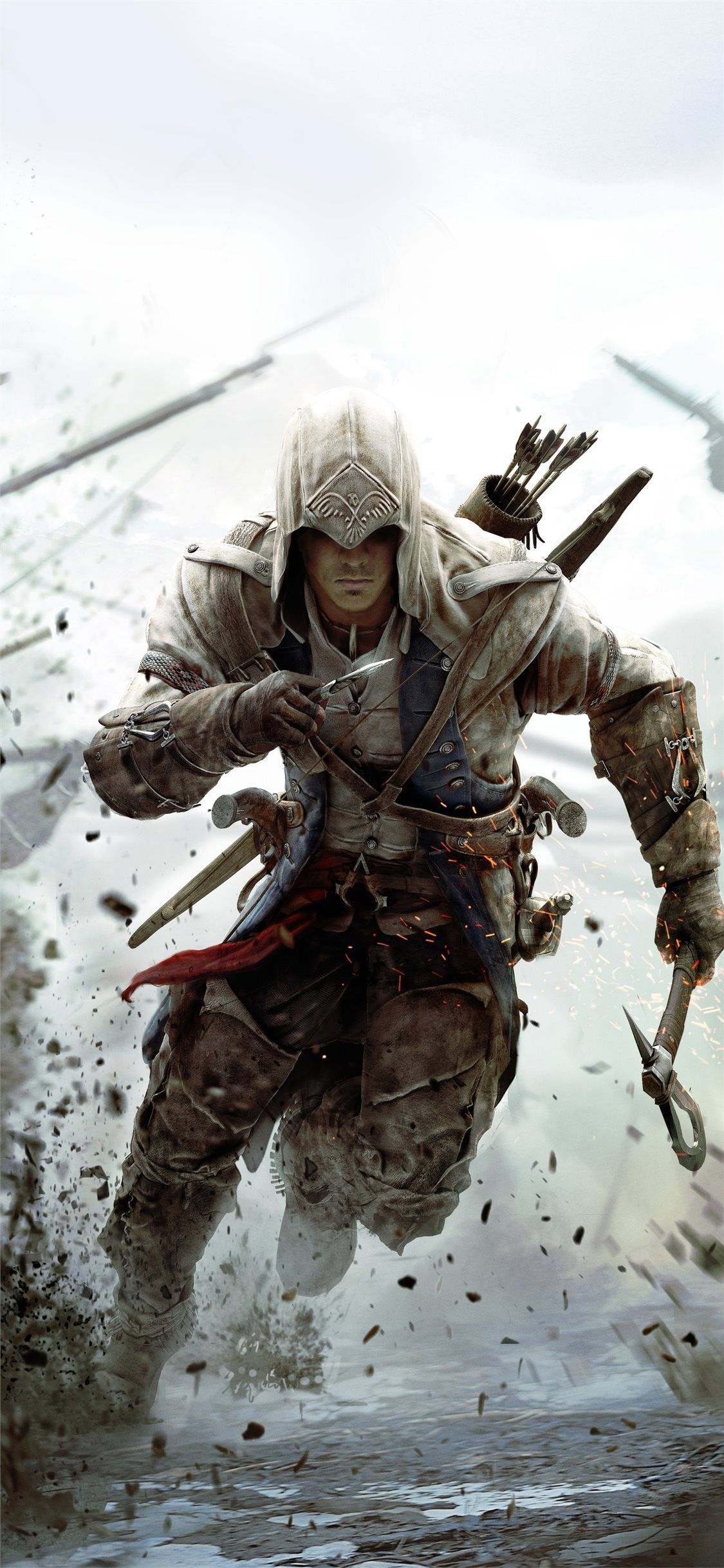 assassins creed 3 10k iPhone X Wallpapers