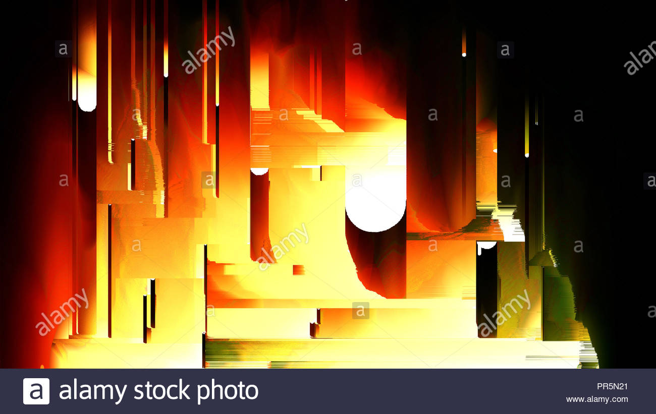 design of abstract digital pixel noise glitch rows error video damage 3d render background puter generated PR5N21