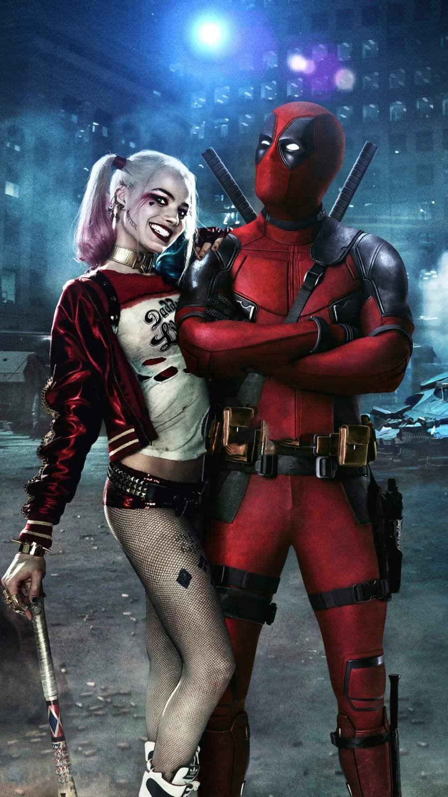 Deadpool and Harley Quinn iPhone Wallpaper iPhone Wallpapers
