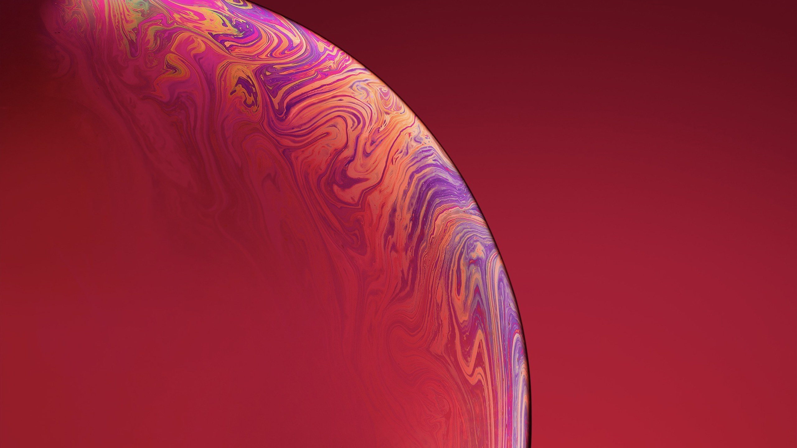 iphone xs double bubble red wallpaper