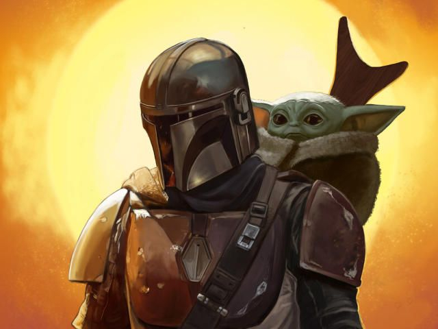 Baby Yoda and Mandalorian FanArt Wallpaper HD TV Series 4K Wallpapers s and Background