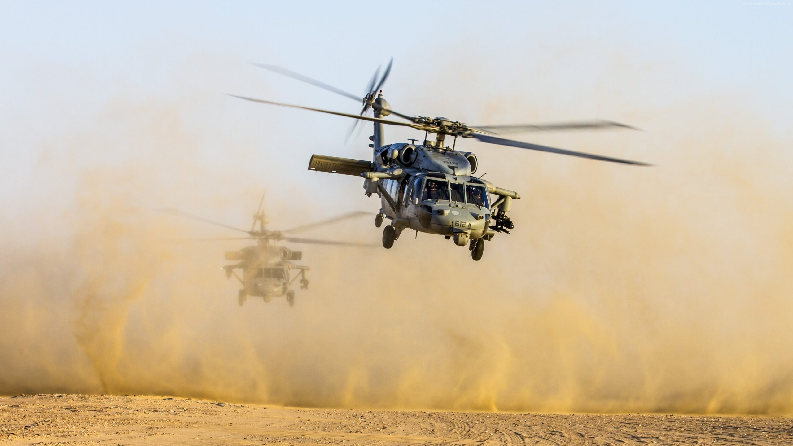 wallpaper helicopter black hawk us army 4k military