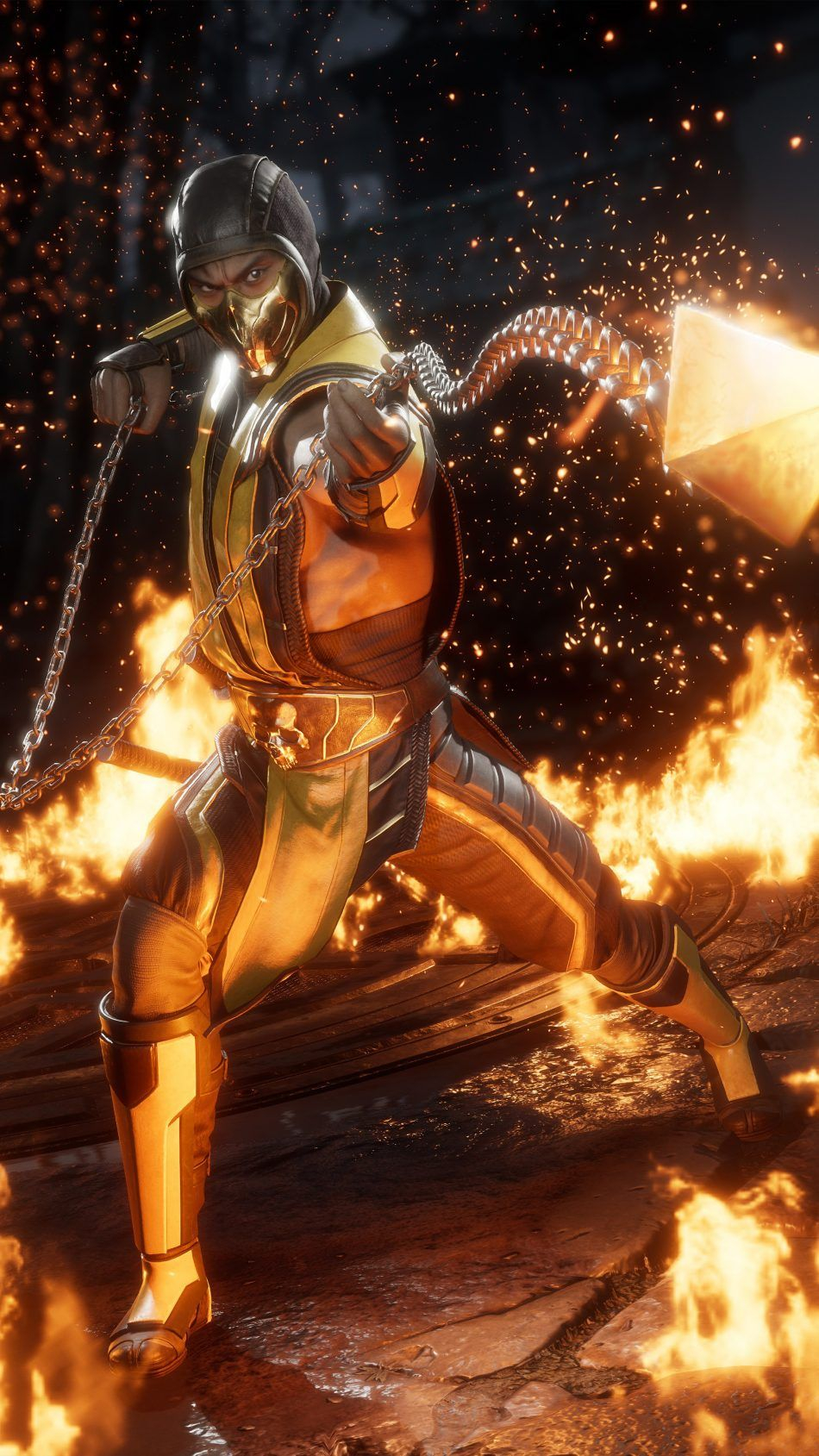 Scorpion Mortal Kombat 11 4K Ultra HD Mobile Wallpaper