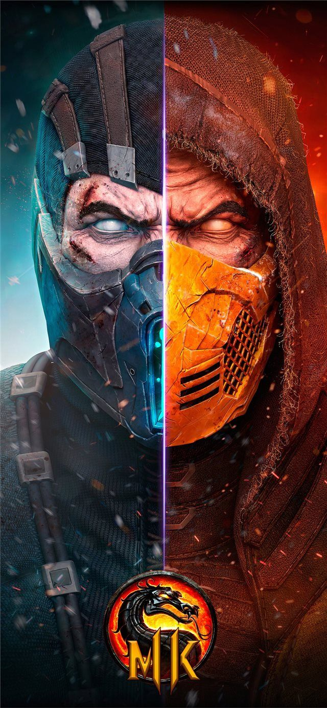 Scorpion mortal kombat x 4k new iPhone 11 wallpaper