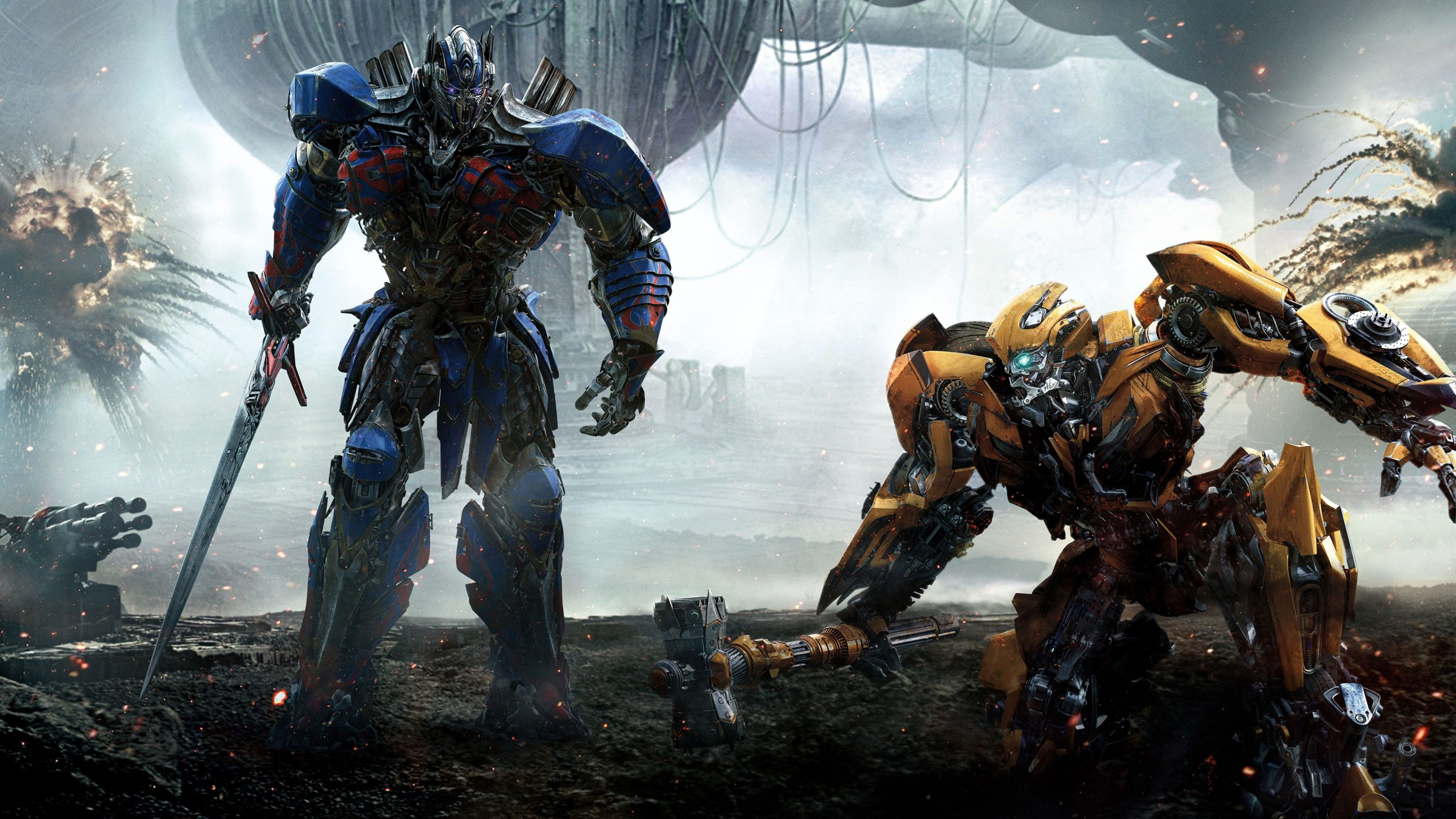 Transformers 5 Optimus Prime and Bumblebee wallpapers
