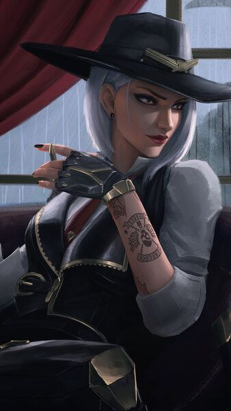 Ashe Overwatch 4K HD Mobile Smartphone and PC Desktop Laptop wallpaper 3840x
